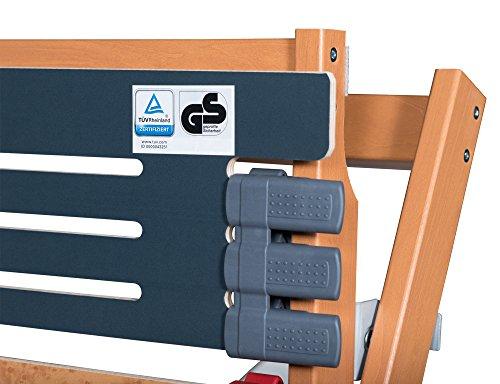 FMP Matratzenmanufaktur 23-0007 7 Zonen Lattenrost Rhodos EL - Kopf- und Fußteil elektrisch verstellbar 44 Leisten Lattenroste Mittelgurt Funkfernbedienung 100x200 cm -