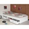 Funktionsbett Alawis 90*200 cm weiß inkl 2 Roll-Bettkästen Kinderbett Jugendbett Jugendliege Bettliege Bett Jugendzimmer Kinderzimmer 1251 -