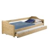Funktionsbett LISA Funktionsliege Jugendbett mit Bettkasten Kiefer natur 90 x 200 cm (B x L) 2 Lattenroste -