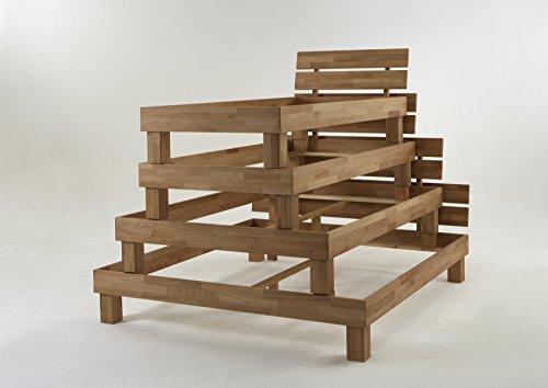 """Futonbett Bett """"Judith"""" Kernbuche-Massiv Natur geölt, 140 x 200 cm -"""