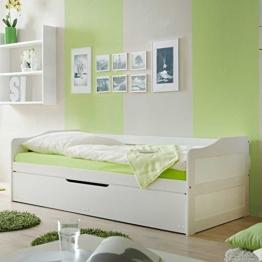 Jugendbett mit Gästebett Weiß Pharao24 -