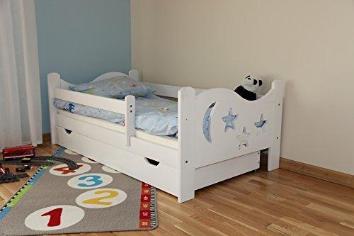 Komplett Massivholz Kinderbett Jugendbett Chrisi 140cm x 70cm -