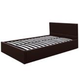 Kunstlederbett 120x200cm mit integriertem Lattenrost und Bettkasten in 3 verschiedenen Farben - 1