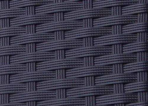 Palermo Rattanliege XXL, bis 160 kg belastbar, inklusive 10 cm dicke Auflage mitKopfkissen (waschbar), bestensfür gewerblichen Einsatzgeeignet, 5-fach verstellbare Rückenlehne (ganz flach), Material: Polyrattan / Aluminiumrahmen / Edelstahlschrauben, Sonnenliege aus Poly Rattan, Farbe Schwarz, seit 2014 über 5.000 mal verkauft -