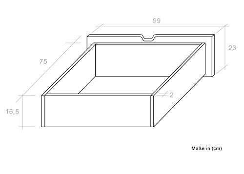 """Stockbett mit Bettkasten """"Easy Sleep"""" K12/n inkl. 2 Schubladen und 2 Abdeckblenden, Kopf- und Fußteil gerade, Buche Vollholz massiv Weiß - Maße: 90 x 200 cm, teilbar -"""