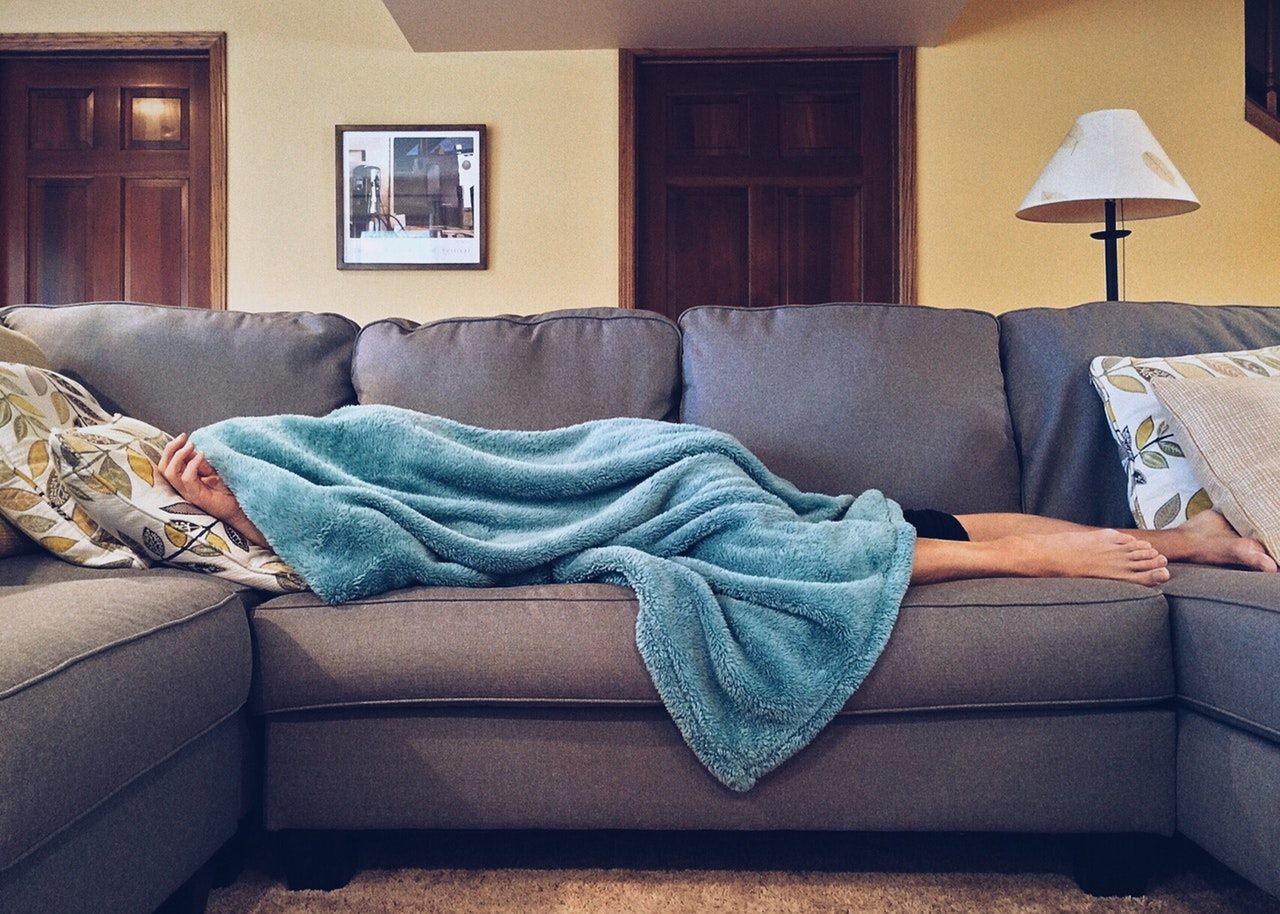 Schlafsofa im Gästezimmer